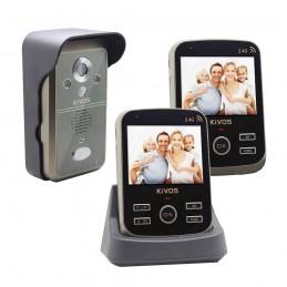 KivosVideointerfon wireless KIVOS KDB301 cu senzor de prezenta si 2 monitoare