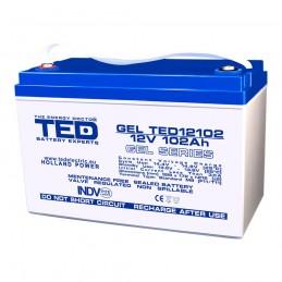 TEDBATERIE GEL TED12102M8 12V 102Ah