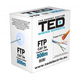 TEDCABLU FTP CATEGORIA 5 2 X 4 FIRE CALITATE 0,5MM CUPRU TE088583 TED ELECTRIC
