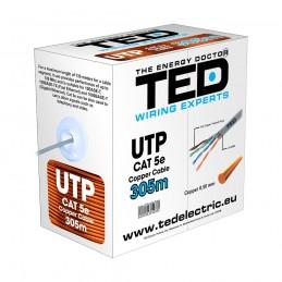 TEDCablu UTP categoria 5 / 2 x 4 fire Cupru