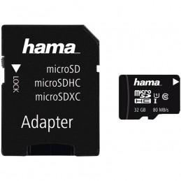 HAMAHama microSDHC 32GB Class 10 UHS-I 80MB/s + Adapter/Photo