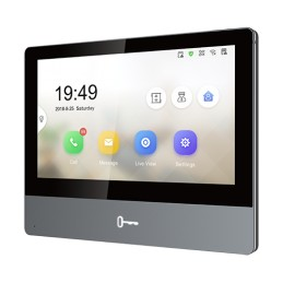 Monitor videointerfon TCP/IP Wireless, Touch Screen IPS-TFT LCD 7inch - HIKVISION DS-KH8350-WTE1